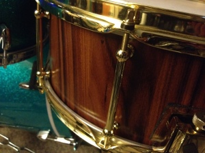 14x6 Bolivian Rosewood Stave Snare by Fierce Drum Co!