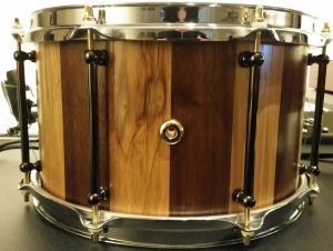 12x7 Walnut & Red Elm Stave Piccolo Snare by HHG Drums!
